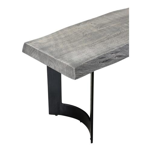 Moe's Home Collection - Bent Bench Small Weathered Grey