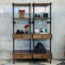 See Details - Elemental™ Storage Set Cement Gray Wood / 24in / Matte Black