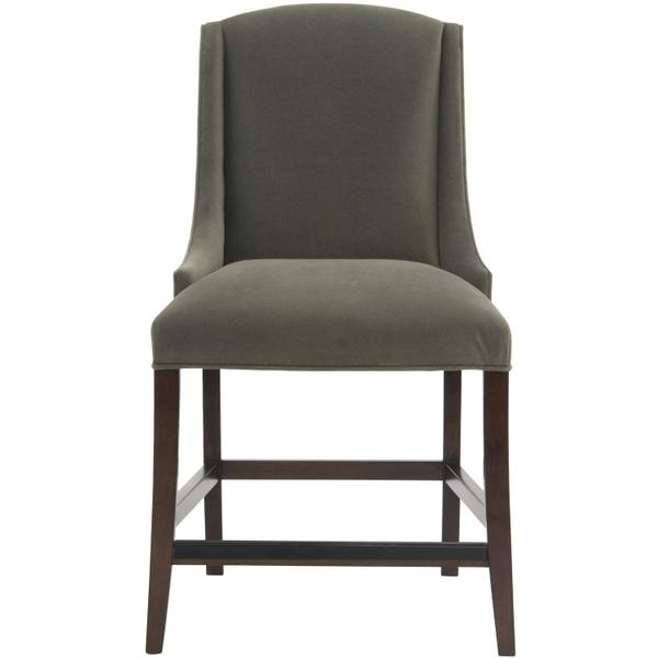 See Details - Slope Counter Stool in Cocoa Finishes Available Cocoa (CN1) Portobello (PN1) Smoke (SN1) Description Upholstered seat with welt Upholstered inback and outback Stretchers Metal cap on front stretcher Options Optional nailhead trim available. Available in other fabrics or COM. To order in the available non-wire brushed finishes, specify the 3-digit finish number. Also available in wire brushed finishes - Glacier White, Midnight Black and Weathered Greige. See 319-585W . Also available in leather. Order as 319-85NL . Specifications subject to change without notice. Due to differences in screen resolutions, the fabrics and finishes displayed may vary from the actual fabric and finish colors. ALL RELATED PRODUCTS