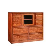 See Details - Forest Designs Bullnose Dresser w/ Beveled Glass Door: 48W X 41H X 18D - 48w