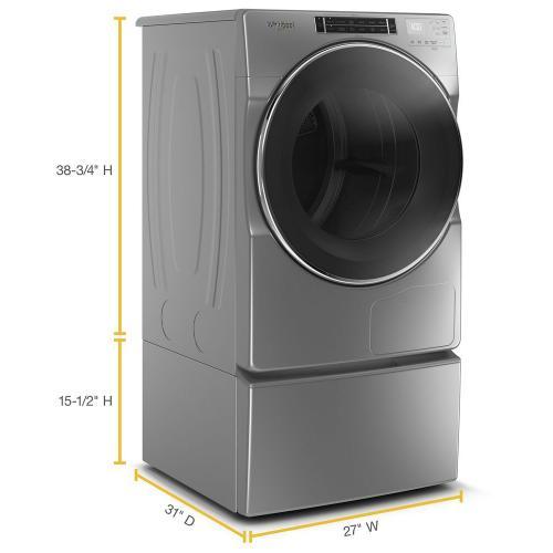 Whirlpool - 7.4 cu. ft. Front Load Hybrid Heat Pump Dryer
