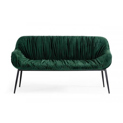 VIG Furniture - Modrest Katrina - Modern Green Fabric Bench