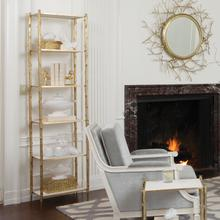 See Details - Arbor Etagere-Brass/White Marble