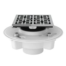 PVC 2 Inch X 3 Inch Drain Kit with Weave Decorative Cover - Polished Chrome