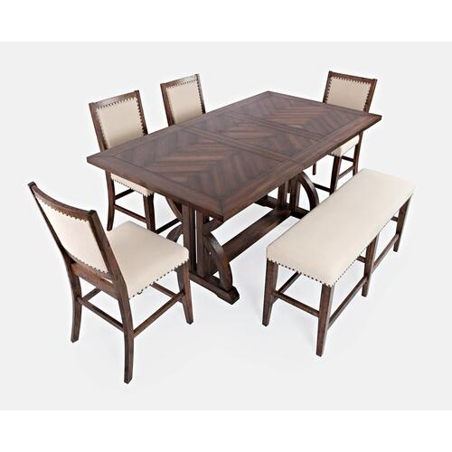 """Fairview 78"""" Counter 6pc W/ Bench"""