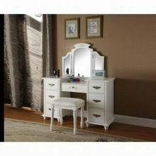 ACME Torian Vanity Desk & Stool - 90026 - White