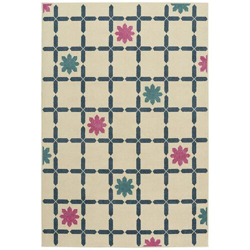 "Poppy-Flores Azul - Rectangle - 3'10"" x 5'5"""