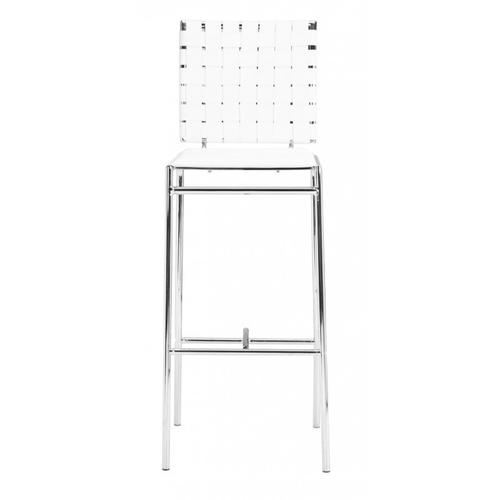 Criss Cross Bar Chair White