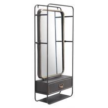 Industrial Storage Mirror Gunmetal & Gold