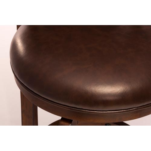 Norwood Swivel Counter Height Stool, Brown Vinyl
