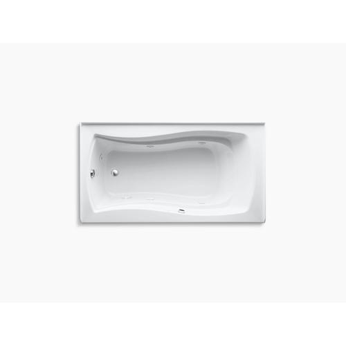 "Biscuit 66"" X 36"" Alcove Whirlpool Bath With Bask Heated Surface, Integral Apron, Integral Flange, and Left-hand Drain"