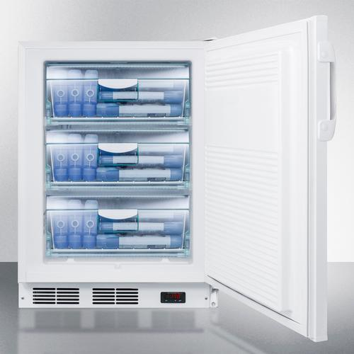 ADA Compliant Built-in Undercounter Medical All-freezer Capable of -25 C Operation, White With Front Lock