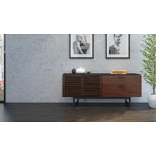 View Product - Corridor 6529 Storage Credenza in Chocolate Stained Walnut
