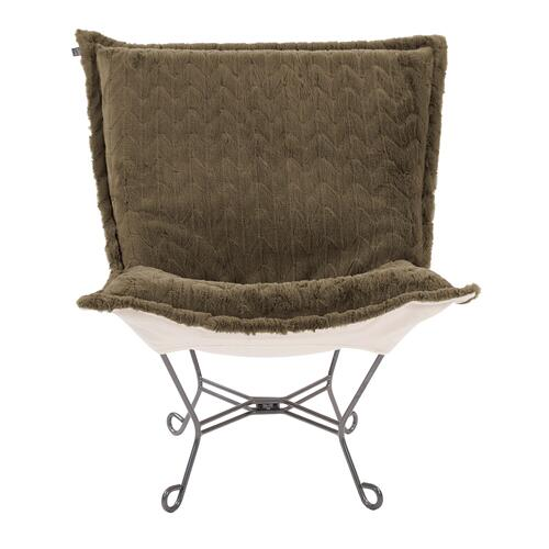 Howard Elliott - Scroll Puff Chair Angora Moss