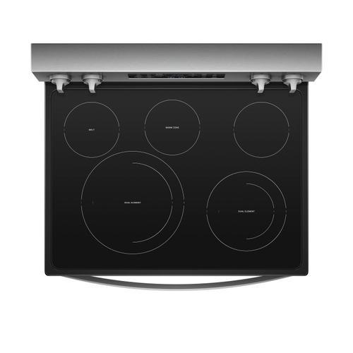 Gallery - 6.4 cu. ft. Freestanding Electric Range with Frozen Bake™ Technology Fingerprint Resistant Stainless Steel
