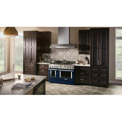 KitchenAid - KitchenAid® 48'' Smart Commercial-Style Gas Range with Griddle - Ink Blue