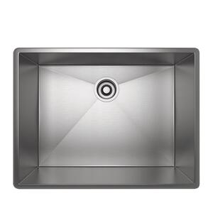 Brushed Stainless Steel Forze Single Bowl Stainless Steel Kitchen Sink Product Image