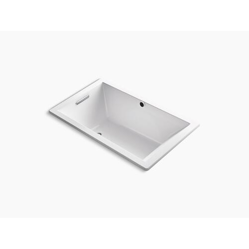 "White 60"" X 36"" Drop-in Bath With Bask Heated Surface and End Drain"