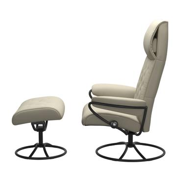 See Details - Stressless® Metro Original High back Chair with Ottoman