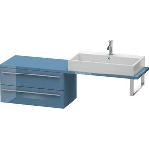 Low Cabinet For Console Compact, Stone Blue High Gloss (lacquer)