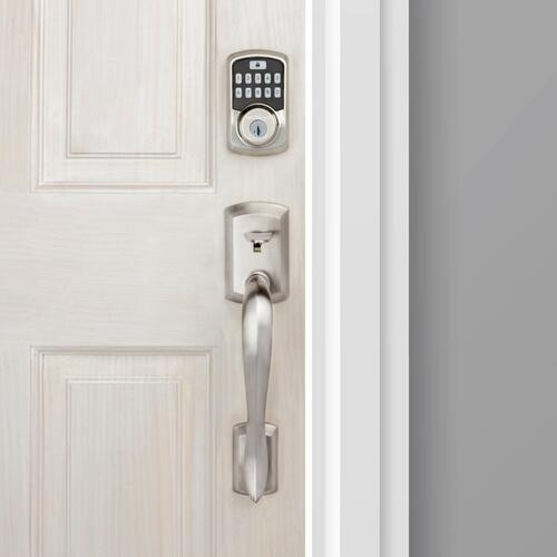 Kwikset - Aura Bluetooth Enabled Smart Lock - Satin Nickel