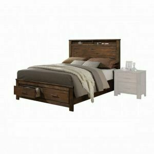 ACME Merrilee Queen Bed w/Storage - 21680Q - Oak