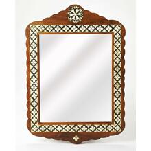 This arched top wall mirror is an extraordinary feat of craftsmanship. Its wondrous Moroccan quatrefoil design is painstakingly created inlaying bone ™ within a merranti wood frame ™ one individual piece at a time. Its hand rubbed finish will elegantly blend with virtually any style while imparting a touch of bohemian chic in any space.