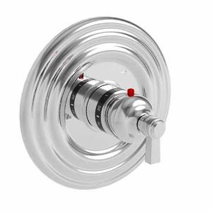 """Midnight Chrome 3/4"""" Round Thermostatic Trim Plate with Handle"""