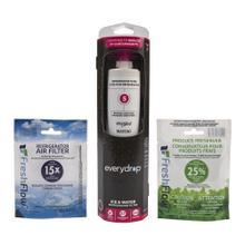 See Details - Everydrop® Refrigerator Water Filter 5 - EDR5RXD1 (Pack Of 1) + Refrigerator FreshFlow™ Air Filter + FreshFlow Produce Preserver Refill