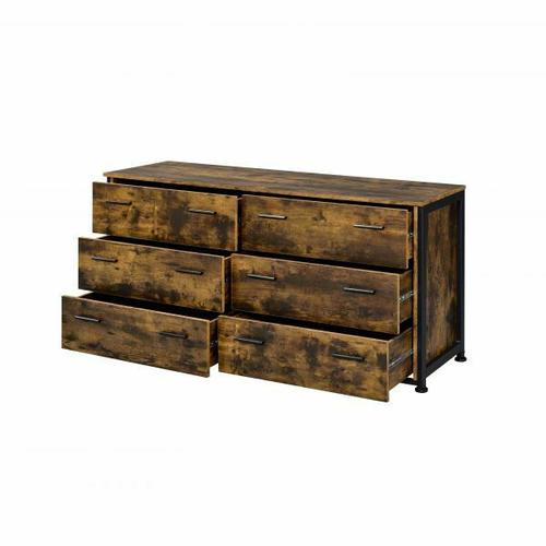 ACME Juvanth Dresser, Rustic Oak & Black Finish - 24265