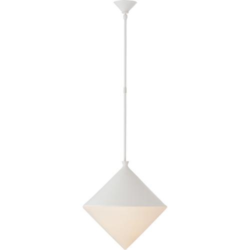 AERIN Sarnen LED 18 inch Matte White Pendant Ceiling Light, Large
