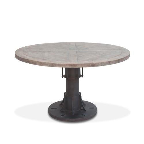 """Old Mill 54"""" Reclaimed Wood Round Dining Table"""