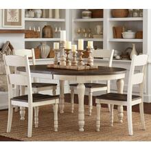 Madison County Round To Oval Table W/(4) Chairs