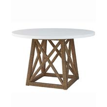 View Product - Round Accent Table - Natural/White Finish
