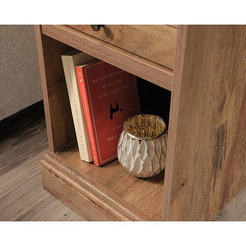 Side Table with Pull Out Tray