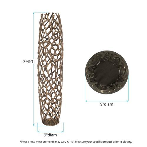Howard Elliott - Bronze Aluminum Branch Vase, Small