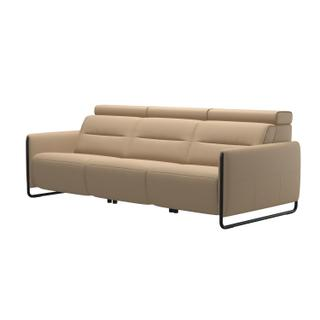 See Details - Stressless® Emily arm steel 3 seater