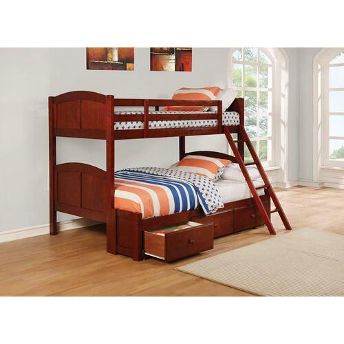 Parker Chestnut Twin-over-full Bunk Bed