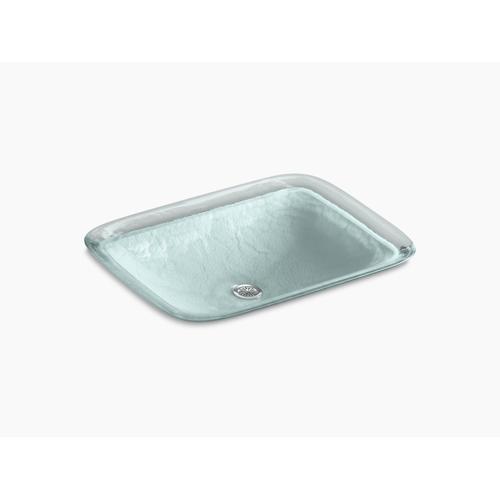 Opaque Dew Glass Vessel Bathroom Sink In Opaque Dew