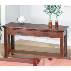Sofa Table W/ 2 Drawers and Shelf