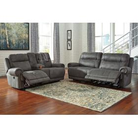Austere 2 Seat Reclining Sofa & Console Loveseat Gray