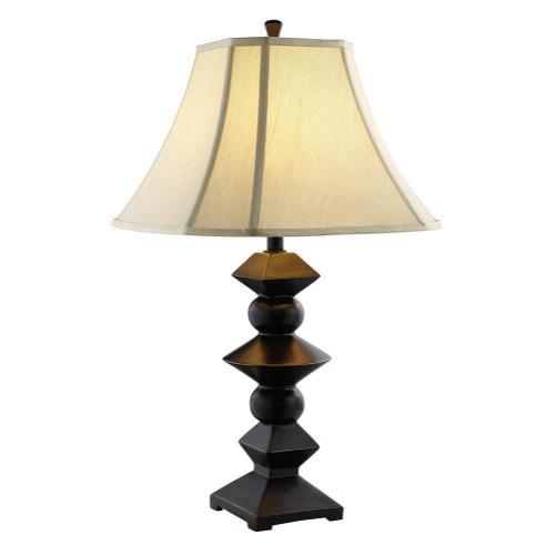 Geometric Bronze Lamp