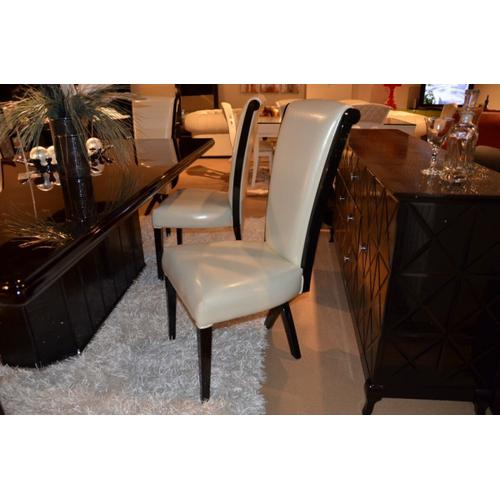 Gallery - A&X Xena - Transitional X-Leg Dining Side Chair (Set of 2)