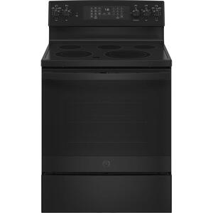 "GE®30"" Free-Standing Electric Convection Range with No Preheat Air Fry"