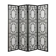ACME Cecilia 4-Panel Screen Room Divider - 98290 - Black Product Image