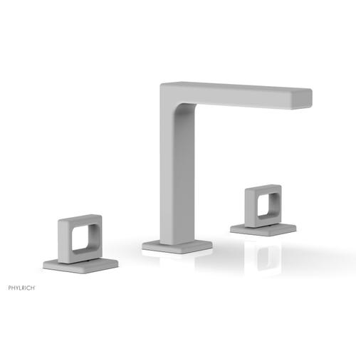 """MIX Widespread Faucet - Ring Handles 6-3/4"""" Height 290-03 - Satin White"""