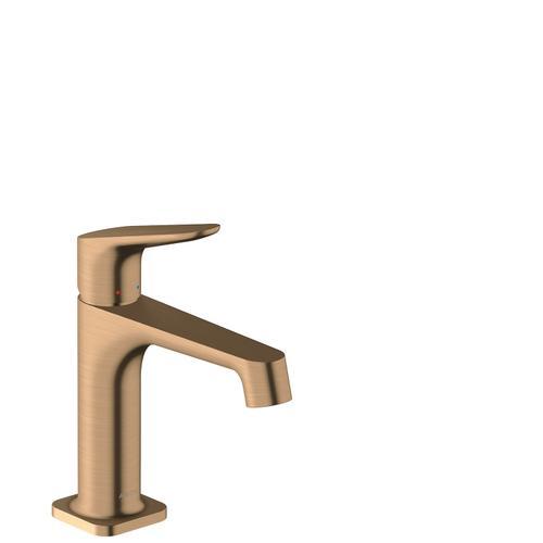Brushed Bronze Single lever basin mixer 100 with pop-up waste set