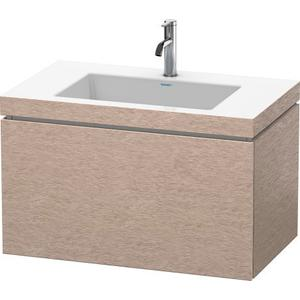 Furniture Washbasin C-bonded With Vanity Wall-mounted, Cashmere Oak