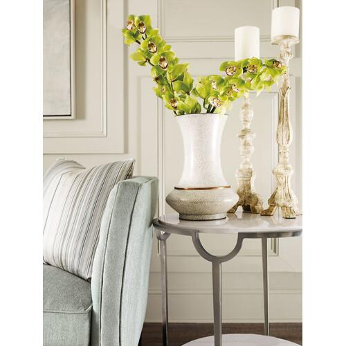 Morello Oval Metal End Table