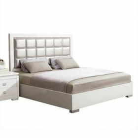 ACME Valentina Queen Bed - 20250Q - Pearl PU & White High Gloss